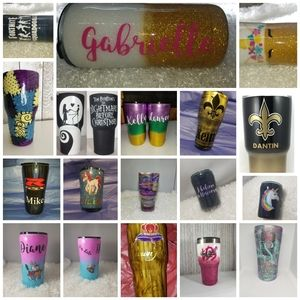 Custom 20oz glitter or painted tumbler